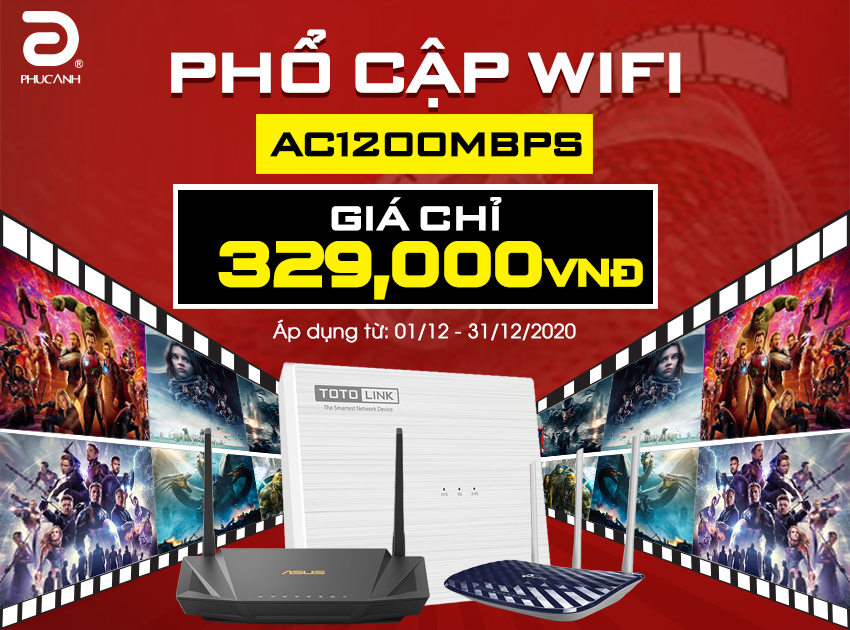 PHỔ CẤP WIFI AC 1200Mbps