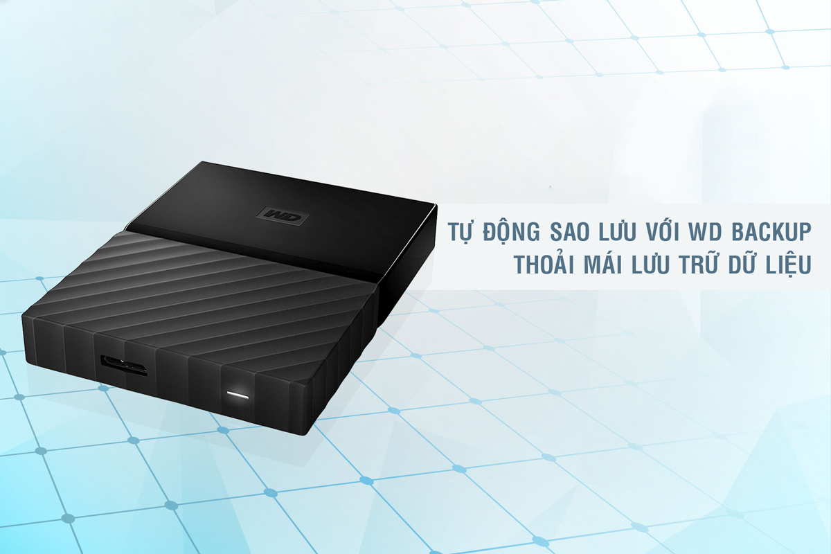 Ổ cứng di động Western Digital My Passport 3Tb USB3.0 New - Đen