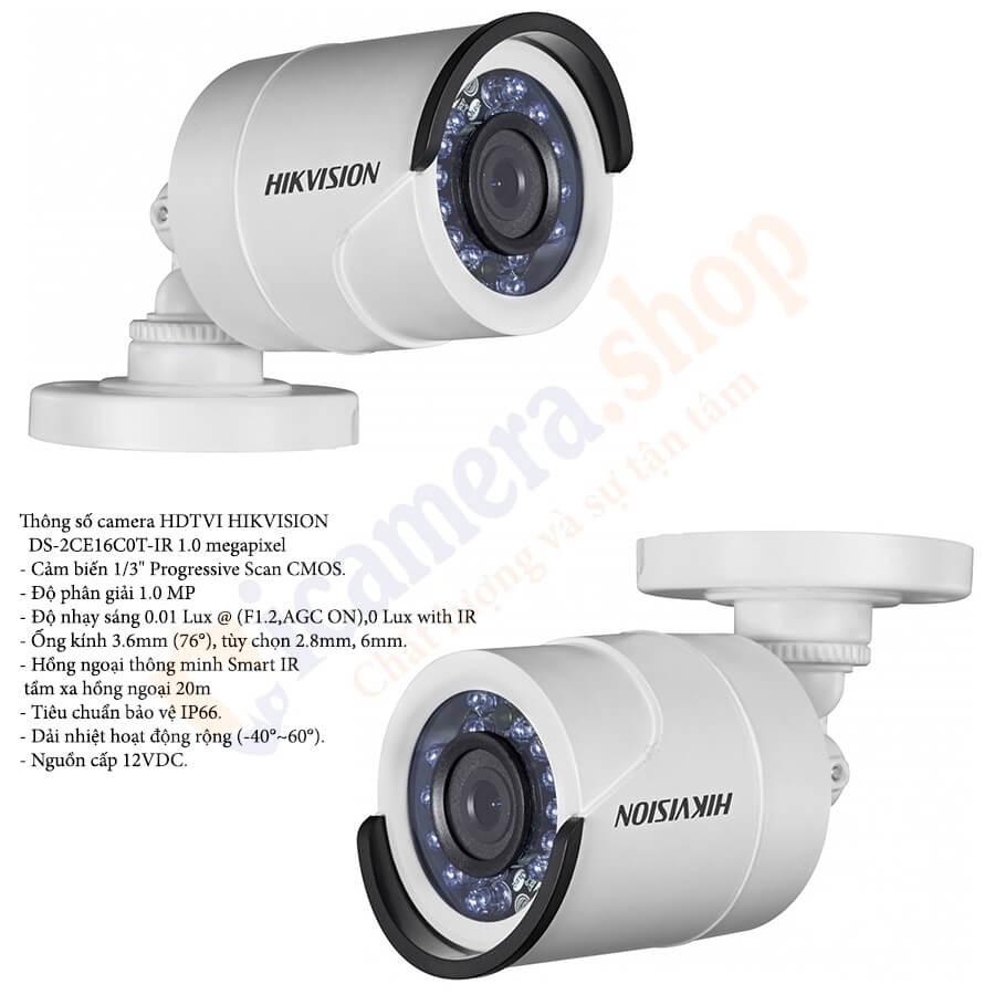 Camera quan sát thân Hikvison DS-2CE16C0T-IR