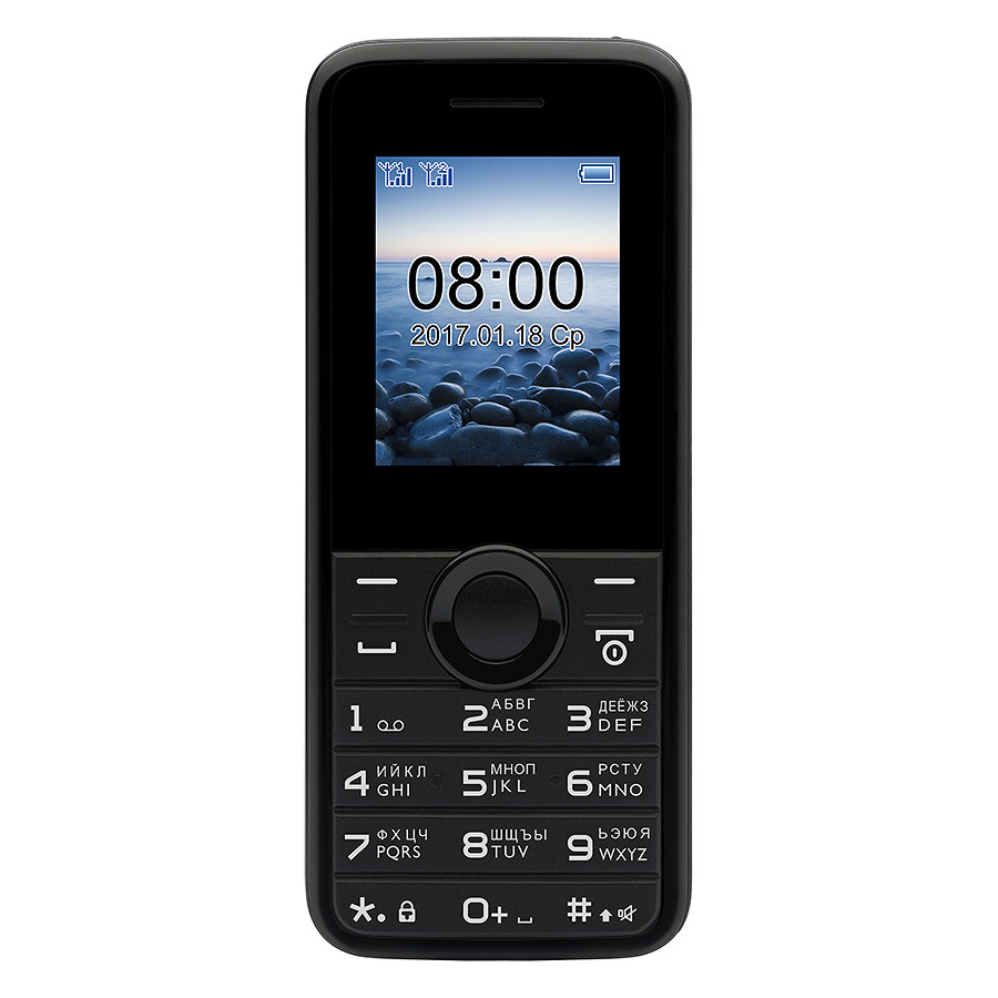 Philips E 106 (Black) - 1.77Inch/ 2 Sim