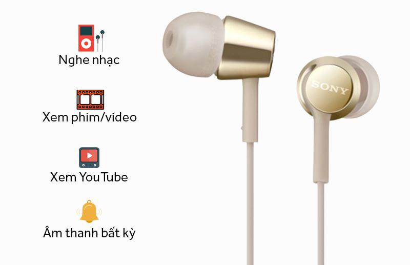 Tai nghe Sony MDR-EX155AP (Vàng đồng)