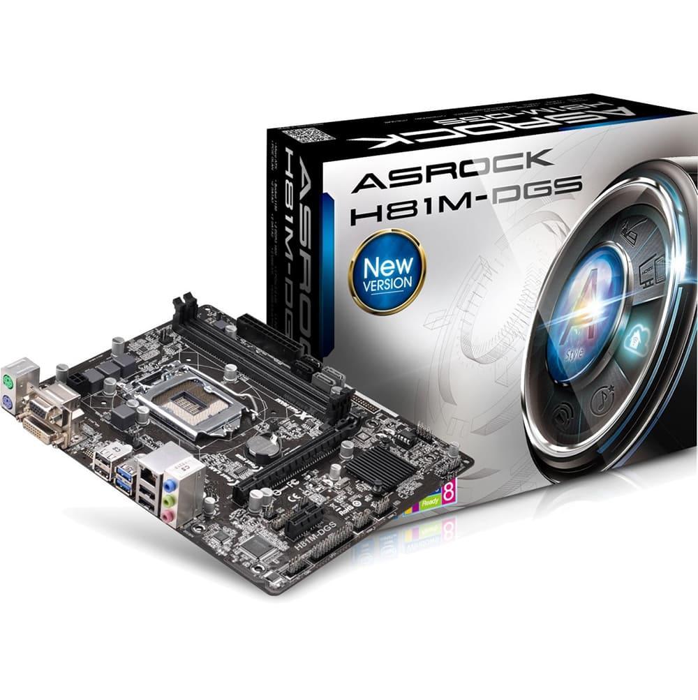 Asrock H81M DGS Chipset Intel H81 Socket LGA1150 VGA onboard