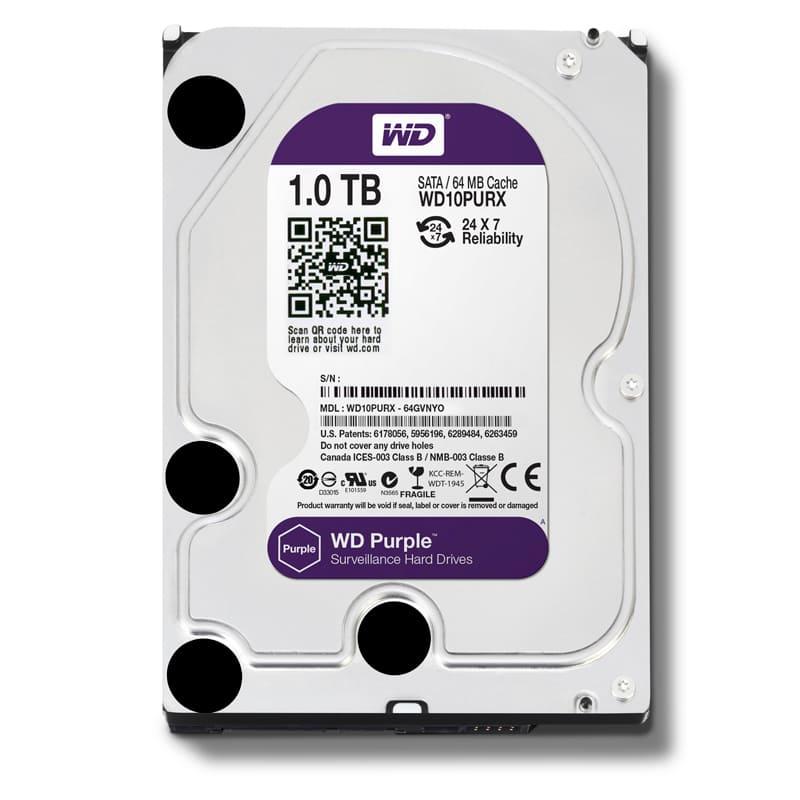 Ổ cứng HDD Western Purple 1Tb SATA3 5400rpm