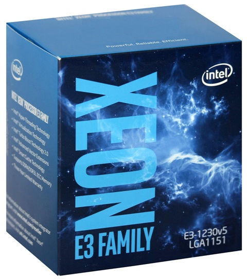CPU Intel Xeon E3 1230V5 (Up to 3.8Ghz/ 8Mb cache)