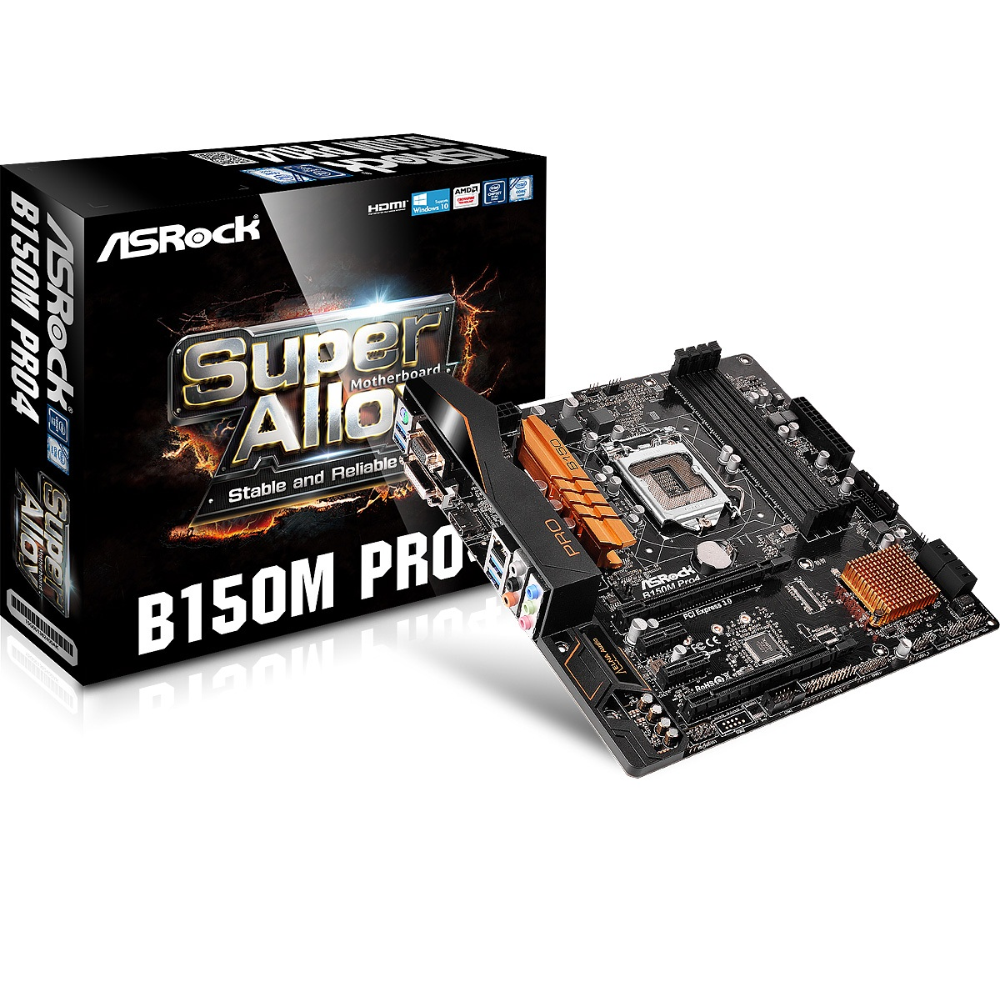 Main Asrock B150M Pro4 Chipset Intel B150 Socket LGA1151 VGA onboard