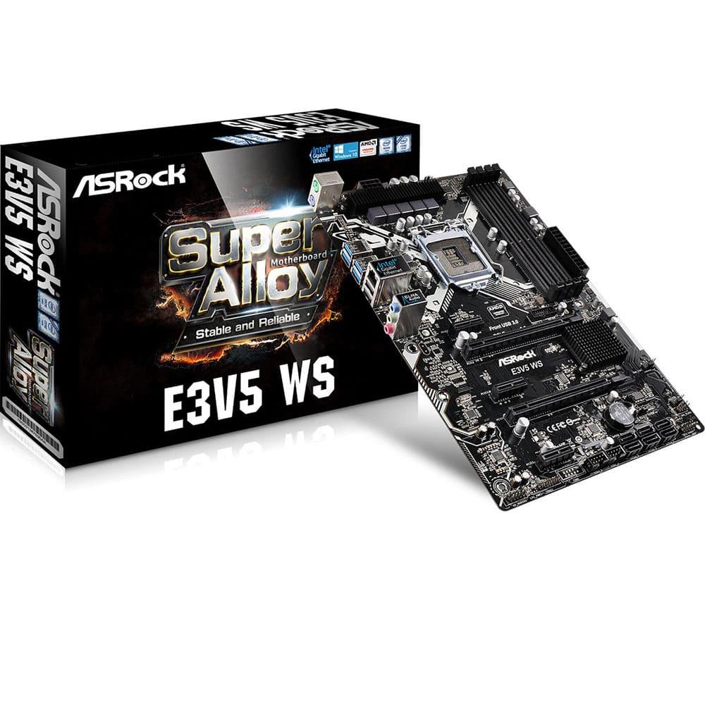 Mainboard Asrock E3V5 WS Chipset Intel C232 Socket LGA1151 VGA onboard