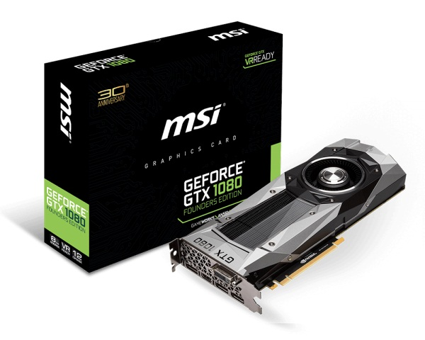 MSI GTX 1080 Founders Edition (NVIDIA Geforce/ 8Gb/ DDR5X/ 256Bit)