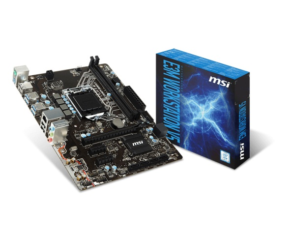 Main MSI E3M WORKSTATION V5 (Chipset Intel C232/ Socket LGA1151/ VGA onboard)