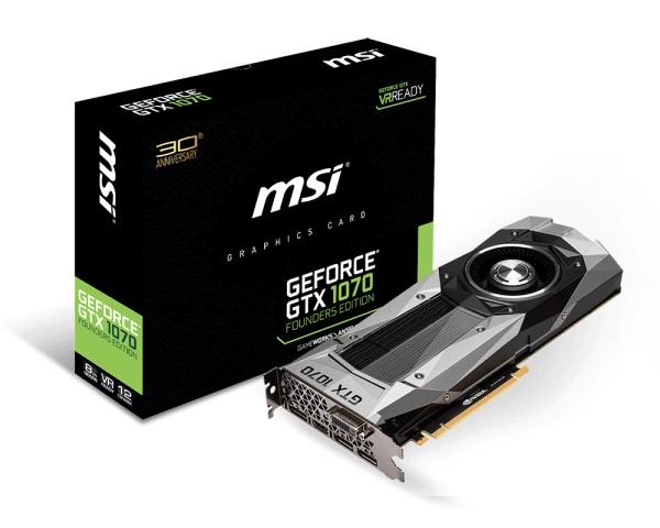 MSI GTX 1070 Founders Edition NVIDIA Geforce 8Gb DDR5 256Bit