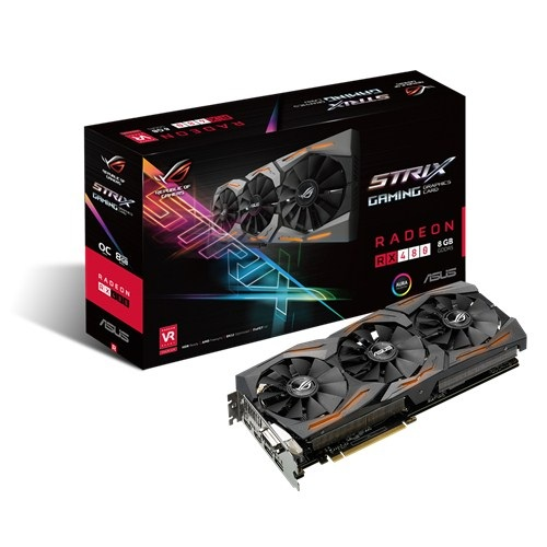 Asus ROG STRIX-RX480-O8G-GAMING (AMD Radeon/ 8Gb/ DDR5/ 256 Bits)