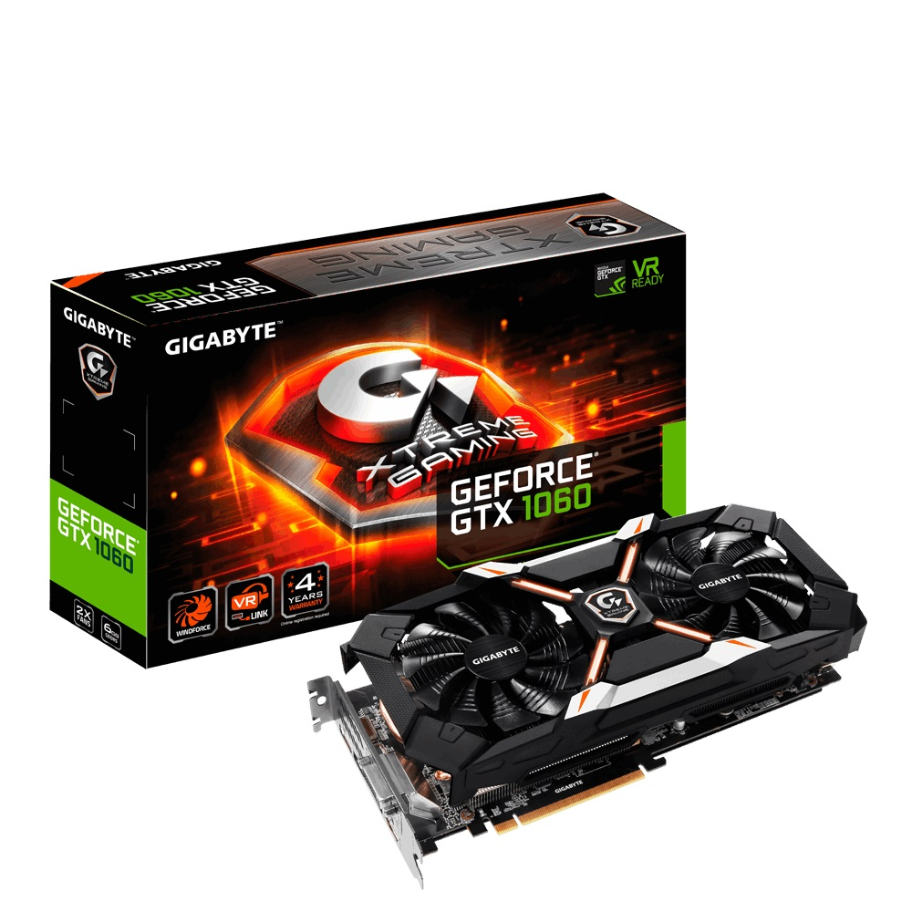 VGA Gigabyte GTX1060 EXTREME GAMING 6GB DDR5 192BIT 2 FAN