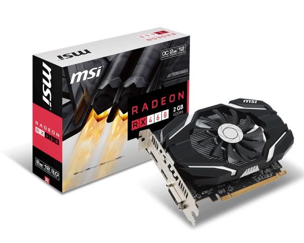 VGA MSI RX460 2G OC AMD Radeon 2Gb DDR5 128 Bits