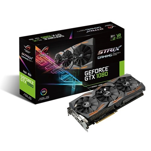 Asus ROG Strix-GTX1080-A8G-GAMING (NVIDIA Geforce/ 8Gb/ DDR5X/ 256Bit)