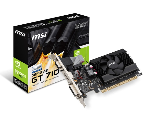MMSI GT710 1GD3 LP NVIDIA Geforce 1Gb DDR3 64Bit