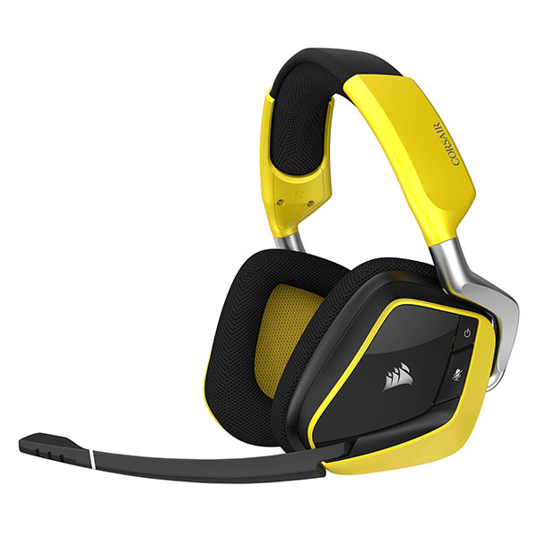 Tai nghe Corsair VOID PRO RGB Wireless Dolby 7.1 Gaming Yellow (CA-9011150-AP)